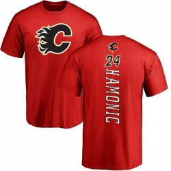 Men's Travis Hamonic Calgary Flames Backer T-Shirt - Red