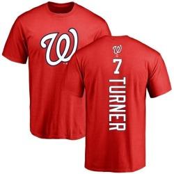 Men's Trea Turner Washington Nationals Backer T-Shirt - Red