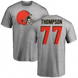 Men's Trenton Thompson Cleveland Browns Name & Number Logo T-Shirt - Ash