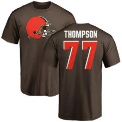 Men's Trenton Thompson Cleveland Browns Name & Number Logo T-Shirt - Brown