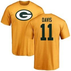 Men's Trevor Davis Green Bay Packers Name & Number Logo T-Shirt - Gold