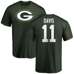 Men's Trevor Davis Green Bay Packers Name & Number Logo T-Shirt - Green