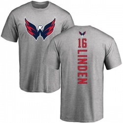Men's Trevor Linden Washington Capitals Backer T-Shirt - Ash