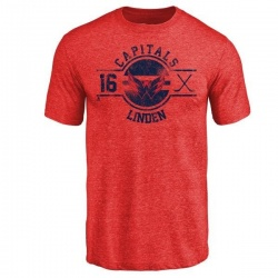 Men's Trevor Linden Washington Capitals Insignia Tri-Blend T-Shirt - Red
