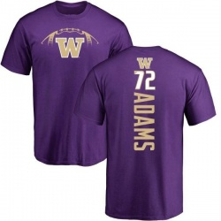 Men's Trey Adams Washington Huskies Football Backer T-Shirt - Purple