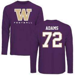 Men's Trey Adams Washington Huskies Football Long Sleeve T-Shirt - Purple