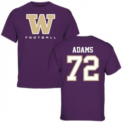 Men's Trey Adams Washington Huskies Football T-Shirt - Purple