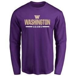 Men's Trey Adams Washington Huskies Sport Wordmark Long Sleeve T-Shirt - Purple