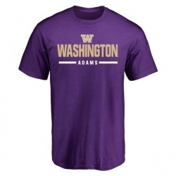 Men's Trey Adams Washington Huskies Sport Wordmark T-Shirt - Purple