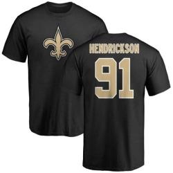 Men's Trey Hendrickson New Orleans Saints Name & Number Logo T-Shirt - Black