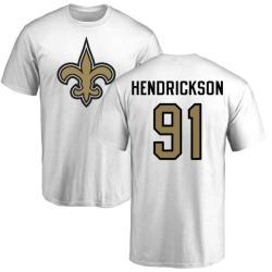Men's Trey Hendrickson New Orleans Saints Name & Number Logo T-Shirt - White