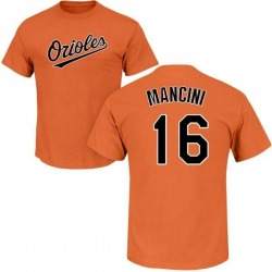Men's Trey Mancini Baltimore Orioles Roster Name & Number T-Shirt - Orange