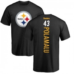 Men's Troy Polamalu Pittsburgh Steelers Backer T-Shirt - Black