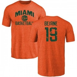 Men's Tucker Beirne Miami Hurricanes Basketball Tri-Blend T-Shirt - Orange