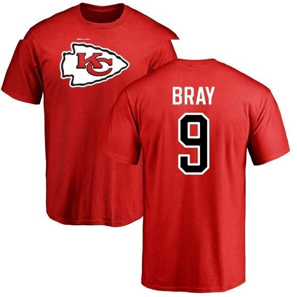 new arrival 12df2 eecdc Men's Tyler Bray Kansas City Chiefs Name & Number Logo T-Shirt - Red -  Teams Tee