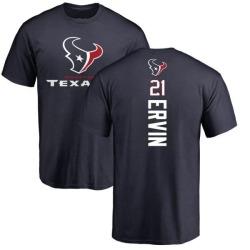 Men's Tyler Ervin Houston Texans Backer T-Shirt - Navy