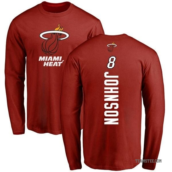 more photos 422dd e2172 Men's Tyler Johnson Miami Heat Cardinal Backer Long Sleeve T-Shirt - Teams  Tee