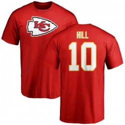 Men's Tyreek Hill Kansas City Chiefs Name & Number Logo T-Shirt - Red