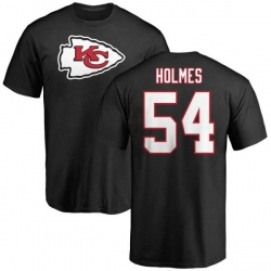 Men's Tyrone Holmes Kansas City Chiefs Name & Number Logo T-Shirt - Black