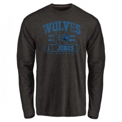 Men's Tyus Jones Minnesota Timberwolves Black Baseline Tri-Blend Long Sleeve T-Shirt