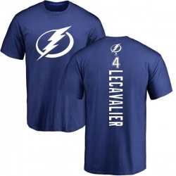 Men's Vincent Lecavalier Tampa Bay Lightning Backer T-Shirt - Royal