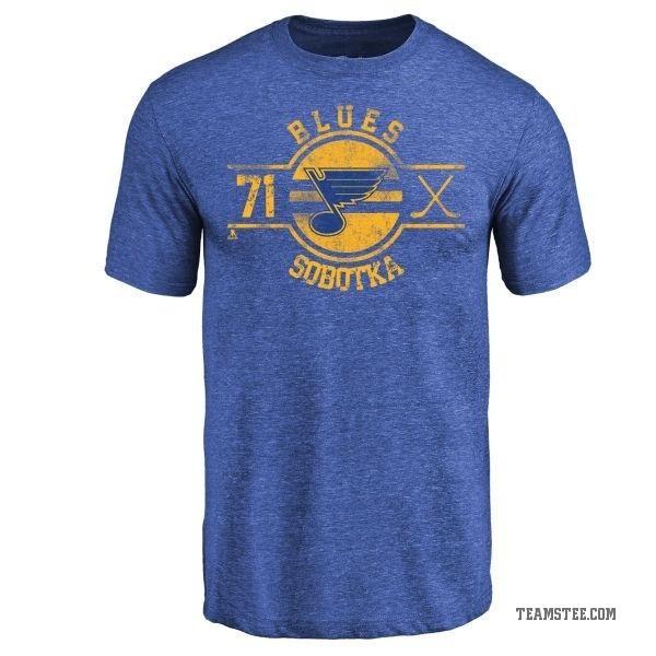 newest 6c9f9 dba3f Men's Vladimir Sobotka St. Louis Blues Insignia Tri-Blend T-Shirt - Royal -  Teams Tee
