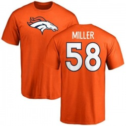 Men's Von Miller Denver Broncos Name & Number Logo T-Shirt - Orange