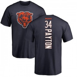 Men's Walter Payton Chicago Bears Backer T-Shirt - Navy