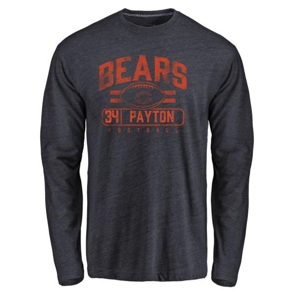buy popular 02118 8eba9 Men's Walter Payton Chicago Bears Flanker Tri-Blend Long Sleeve T-Shirt -  Navy - Teams Tee