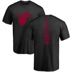 Men's Wayne Ellington Miami Heat Black One Color Backer T-Shirt