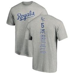 Men's Whit Merrifield Kansas City Royals Backer T-Shirt - Ash
