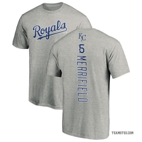 detailed look f222c b0c3a Men's Whit Merrifield Kansas City Royals Backer T-Shirt - Ash - Teams Tee