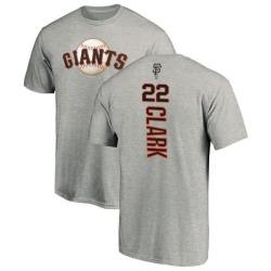 Men's Will Clark San Francisco Giants Backer T-Shirt - Ash