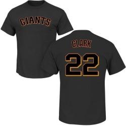 Men's Will Clark San Francisco Giants Roster Name & Number T-Shirt - Black