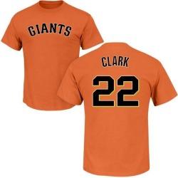 Men's Will Clark San Francisco Giants Roster Name & Number T-Shirt - Orange