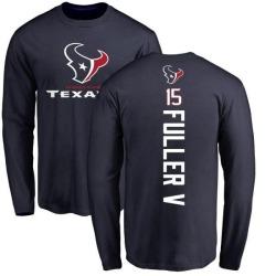 Men's Will Fuller V Houston Texans Backer Long Sleeve T-Shirt - Navy