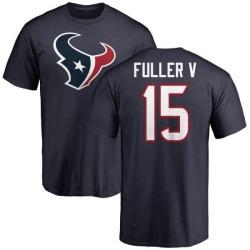Men's Will Fuller V Houston Texans Name & Number Logo T-Shirt - Navy