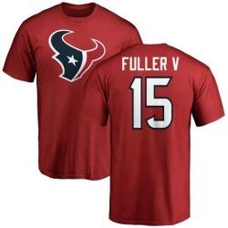 Men's Will Fuller V Houston Texans Name & Number Logo T-Shirt - Red