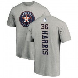 Men's Will Harris Houston Astros Backer T-Shirt - Ash