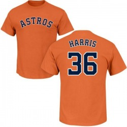 Men's Will Harris Houston Astros Roster Name & Number T-Shirt - Orange