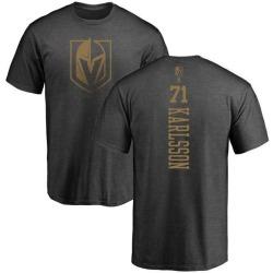 Men's William Karlsson Vegas Golden Knights Charcoal One Color Backer T-Shirt