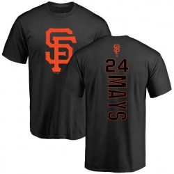Men's Willie Mays San Francisco Giants Backer T-Shirt - Black