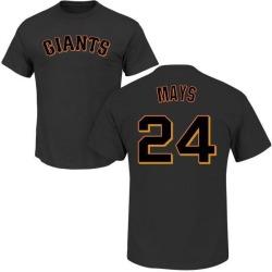 Men's Willie Mays San Francisco Giants Roster Name & Number T-Shirt - Black