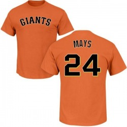 Men's Willie Mays San Francisco Giants Roster Name & Number T-Shirt - Orange