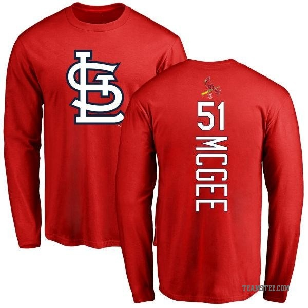 premium selection 0047e 7a255 Men's Willie McGee St. Louis Cardinals Backer Long Sleeve T-Shirt - Red
