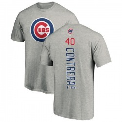 Men's Willson Contreras Chicago Cubs Backer T-Shirt - Ash