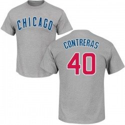 Men's Willson Contreras Chicago Cubs Roster Name & Number T-Shirt - Gray