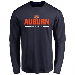 Men's Woody Barrett Auburn Tigers Sport Wordmark Long Sleeve T-Shirt - Navy