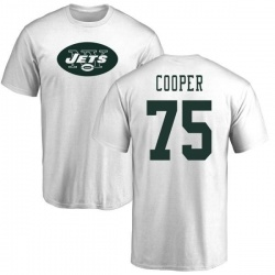 Men's Xavier Cooper New York Jets Name & Number Logo T-Shirt - White