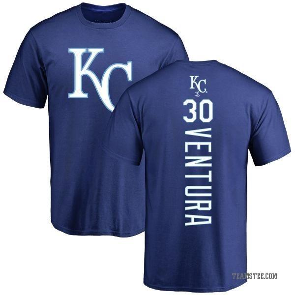 huge discount 61331 2c961 Men's Yordano Ventura Kansas City Royals Backer T-Shirt - Royal - Teams Tee